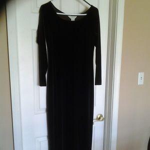 Long brown velour dress